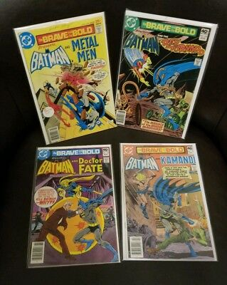 Brave And The Bold #135 153 156 157 BATMAN *4 BOOK LOT APP *SEE DESCRIPTION*