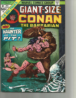 Giant-Size Conan #2 (Dec 1974, Marvel) Double Cover!