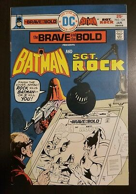 Brave and the Bold #124 (1976) VF+ BATMAN & SGT ROCK APP * SEE MY AUCTIONS*