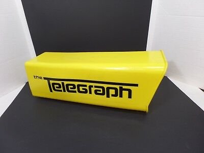Vintage Telegraph Newspaper Delivery/ Mail Plastic Box