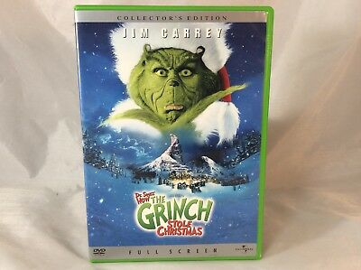 How the Grinch Stole Christmas (DVD, 2001, Collectors Edition, Full Frame)
