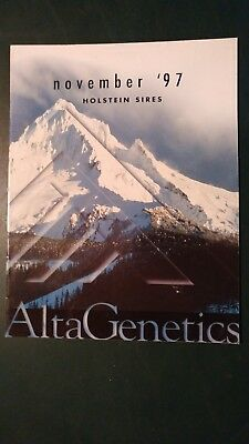 "1997 Alta Genetics Holstein Dairy Cattle Sire Directory - ""bellwood"" - ""jed"""