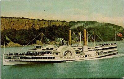 Postcard New York NY Cornwall Bay Hudson River Mary Powell Steamboat Unused H-10