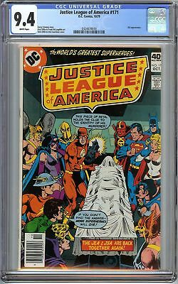 Justice League of America #171 CGC 9.4 NM SUPERMAN BATMAN JSA JLA app DC Comics