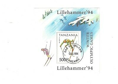 Stamp Sheet Cto Lillehammer Olympic Games Tanzania
