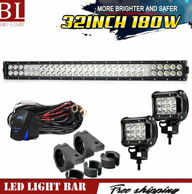 32 inch 180W Combo Beam LED Light Bar Work Offroad Truck Boat SUV 4WD For Jeep