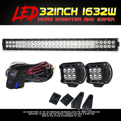 "32"" inch 1632W CREE LED Work Light Bar Spot Flood SUV Boat TRUCK OFF ROAD 30"""