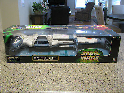 Star Wars - Power Of The Jedi - B-WING FIGHTER - Opened - Hasbro - 2001