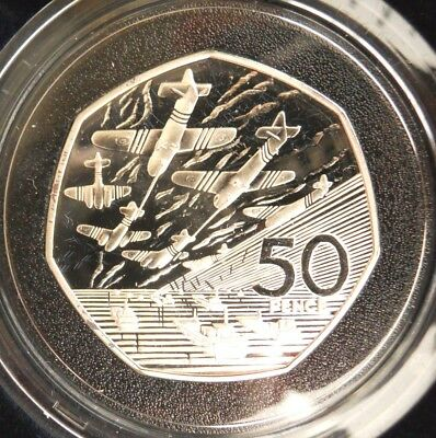1994 Silver ½ oz Proof 50P Fifty Pence Coin Royal Mint D Day - Display Box - COA