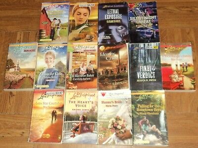 """LOVE INSPIRED """"CHRISTIAN ROMANCE / SUSPENSE"""" PAPERBACK COLLECTION - Lot of 14"""