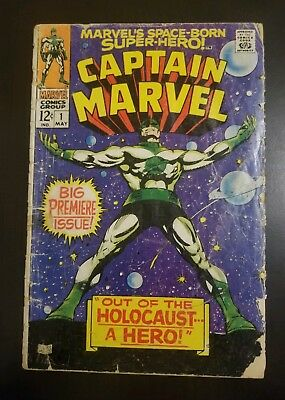 Captain Marvel #1 (1968) 2ND APP * ROY THOMAS * KEY * APPEARANCE * NO RESERVE *