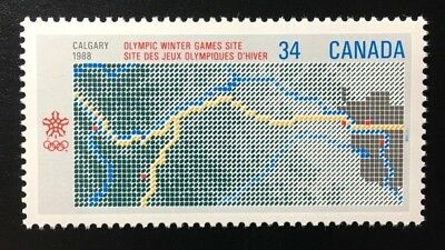 Canada #1077 MNH, 1988 Olympic Winter Games Stamp 1986