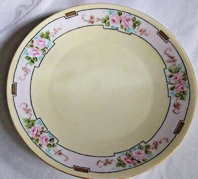 Vintage Bavarian Hand Painted Plate With Roses