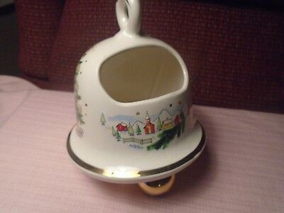 Salem China Christmas Eve Bell Small Centerpiece  Mid-Century
