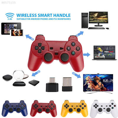 518D 2.4G Receiver Premium Wireless Gamepad Video Game ABS OTG Joypad for PS3