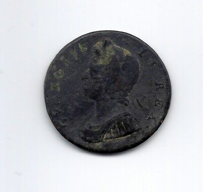 1730 Great Britain Half 1/2 Penny George II AG CONDITION