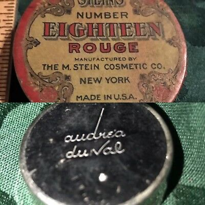 Vintage M. Stein #18 Rouge Empty Box And Andrea Du Val Compact