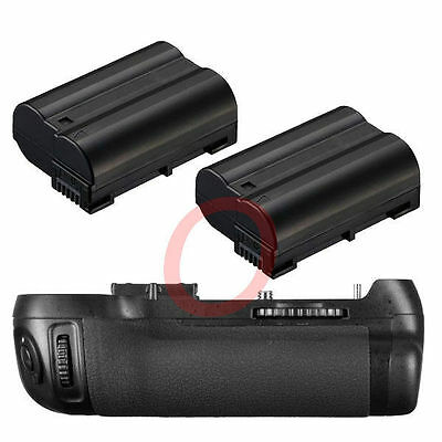 Vertical Battery Grip Pack For Nikon D800 D800E Camera as MB-D12 + 2x EN-EN15