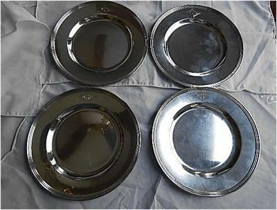 4 International Sterling Bread & Butter Plates-6 Inches-Lord Saybrook Pattern