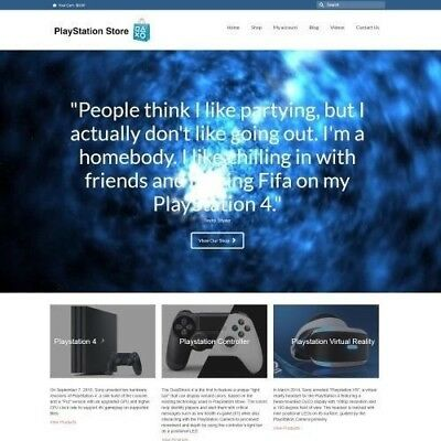 PLAYSTATION Website Business For Sale - Working From Home Make Money + Domain