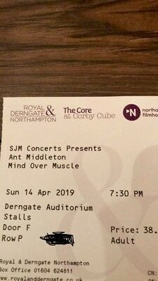Ant Middleton Mind Over Muscle Tour Tickets Northampton Two Tickets (sold Out!)