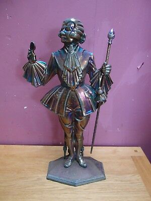 """CAST IRON ENAMELLED """"DANDY"""" FIRESIDE COMPANION SET with SOME TOOLS"""