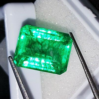 7.52 Ct Certified Natural Emerald Loose Gemstone Colombian Emerald Shape