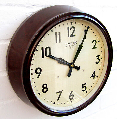 SMITHS - Bakelite - Wall Clock - 8 Day Movement - Full Working Order