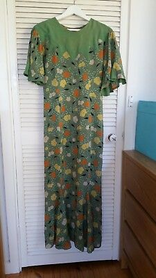 Vintage 30s 40s dress. Size XSmall/Small