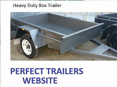 8x5 BOX TRAILER HEAVY DUTY.