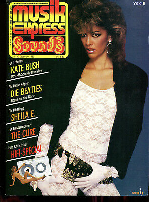 MUSIK EXPRESS Sounds  Nr.12   1985  :  Kate Bush   The Cure   Beatles   Sheila E