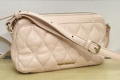 547b4ef1b5a0 VERA BRADLEY QUILTED Leather Sydney Crossbody in Sycamore Blush ...