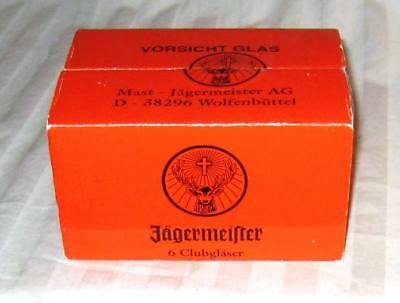 JAGERMEISTER Frosted Shot Glasses (Set of 6) in box