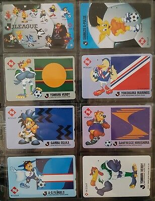 Pas courant ! 8 télécartes Japon Nissay assurance - football lot 2