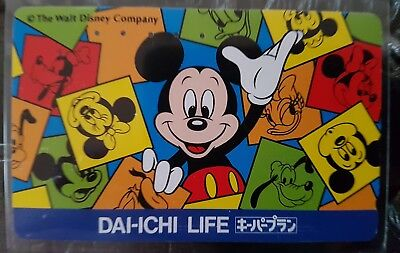 Pas courant ! télécarte Japon Dai Ichi Mickey Disney multicolore