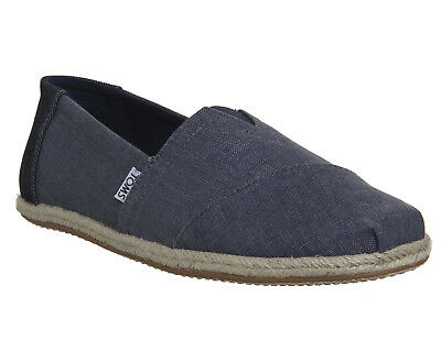 Mens Toms Toms Classic Deep Ocean Coated Linen Rope Casual Shoes