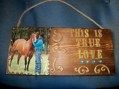 Horse Lover hand Made colorfull Plaque!!