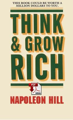 Think and Grow Rich by Napoleon Hill - PDF Book