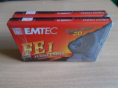 Lot de 2 Vintage Audio Cassette EMTEC FE I 60 * Rare From 1995 *
