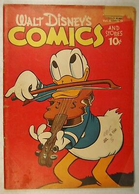 Walt Disney Comics & Stories Vol 6 #11 (Aug 1946, K K Pub) World of Tomorrow!
