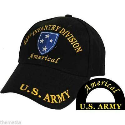 US ARMY 23RD INFANTRY DIVISION AMERICAL CAP HAT BLACK NEW