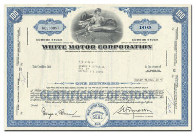 White Motor Corporation Stock Certificate (Trucks, Buses)