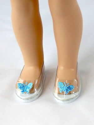 "Butterfly Princess Dress Shoes Fits Wellie Wisher 14.5"" American Girl Shoes"