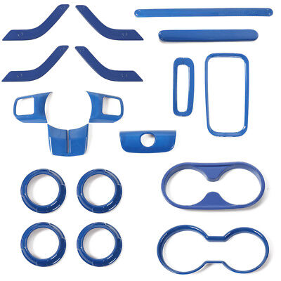 Blue 4x  Interior Cup Gear Trim Sticker Cover For Jeep Wrangler 2011-17 2//4 door