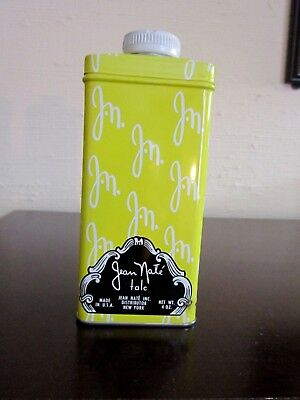 Vint Jean Nate Talc Powder By Lanvin Charles Of The Ritz 4 Ozs. Tin - 3/4 Full