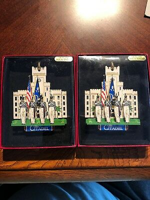 The Citadel Ornament, Charleston, SC, Lot Of 2! NEW! SEALED!