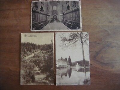 Lot de 3 cartes de SAINT HUBERT ( Basilique / Route de St Michel / Fontaine St H
