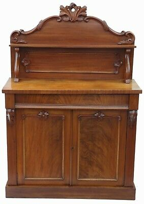 Antique quality Victorian C1880 walnut and mahogany sideboard chiffonier
