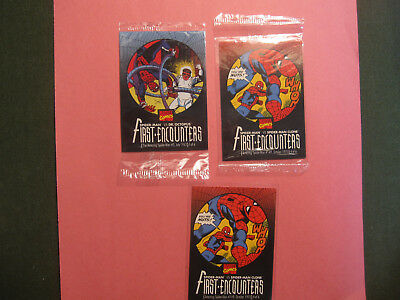 Spider-Man 1995 Kool-Aid Bursts First Encounters Lot Of 3 ( 2 Sealed)