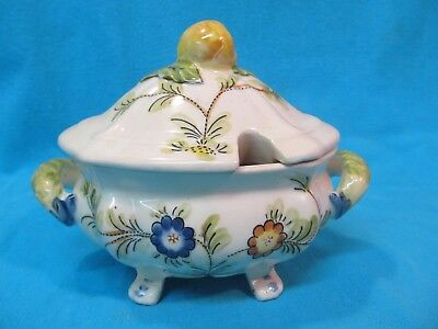 "Small 7 1/2"" Vintage Hand Painted Soup Tureen"